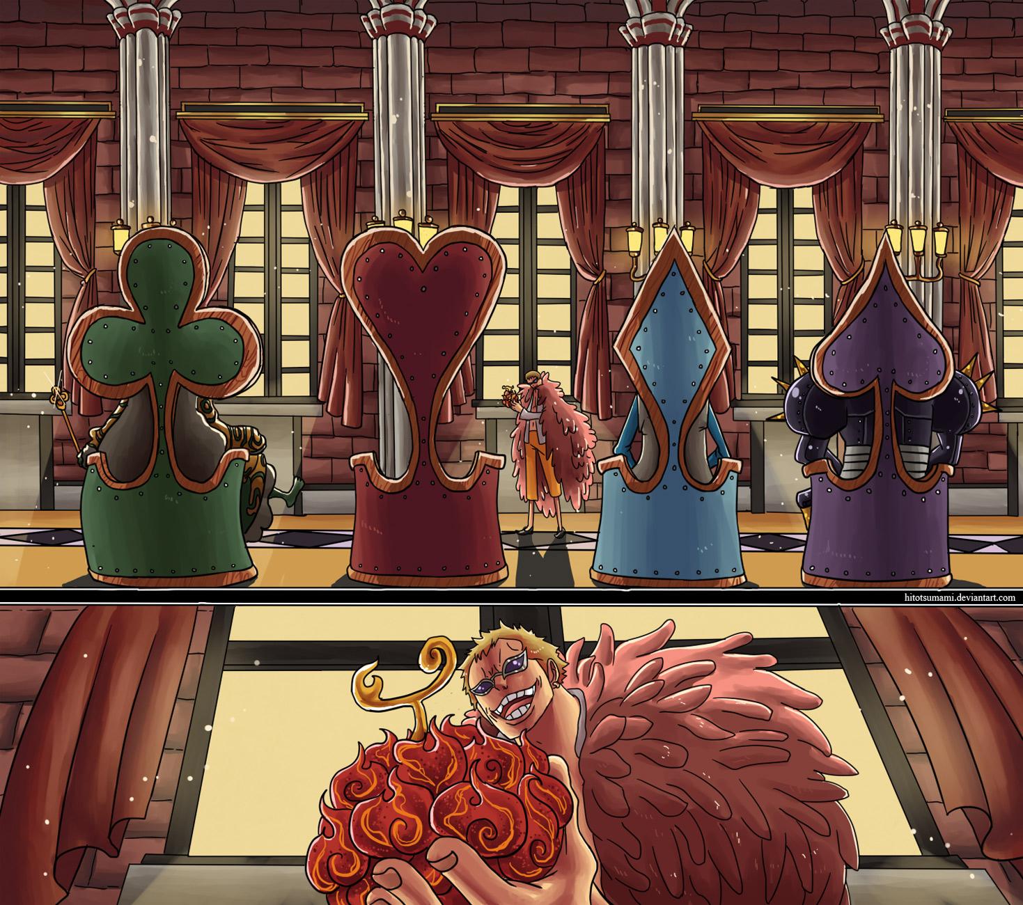 One Piece Chapter 701: Cuộc phiêu lưu ở đất nước của Tình yêu, Sự đam mê và Dồ chơi 019