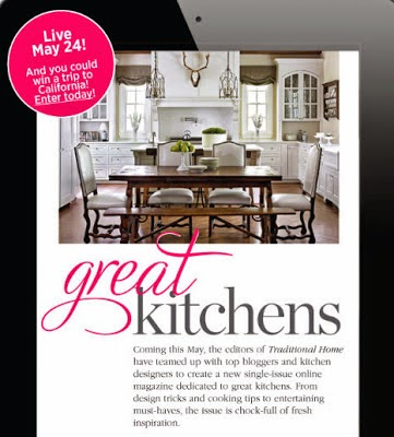 Traditional Home&#39;s one-time only Great Kitchen Issue live online May 24