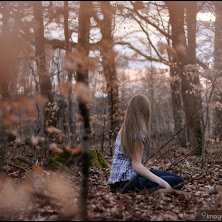 alone, cute, girl, sad, forest