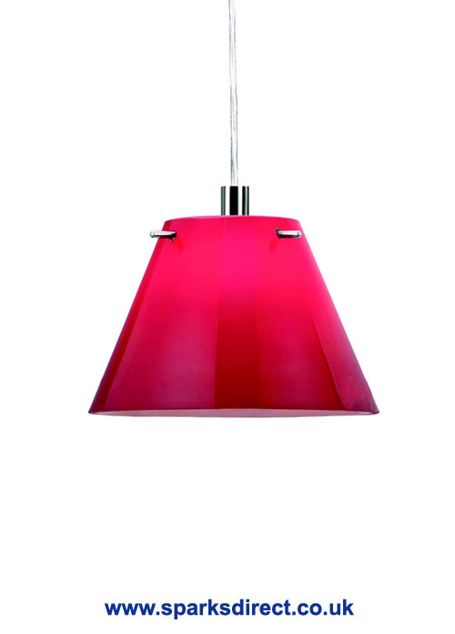 Trinity Red Small Glass Conical Pendant