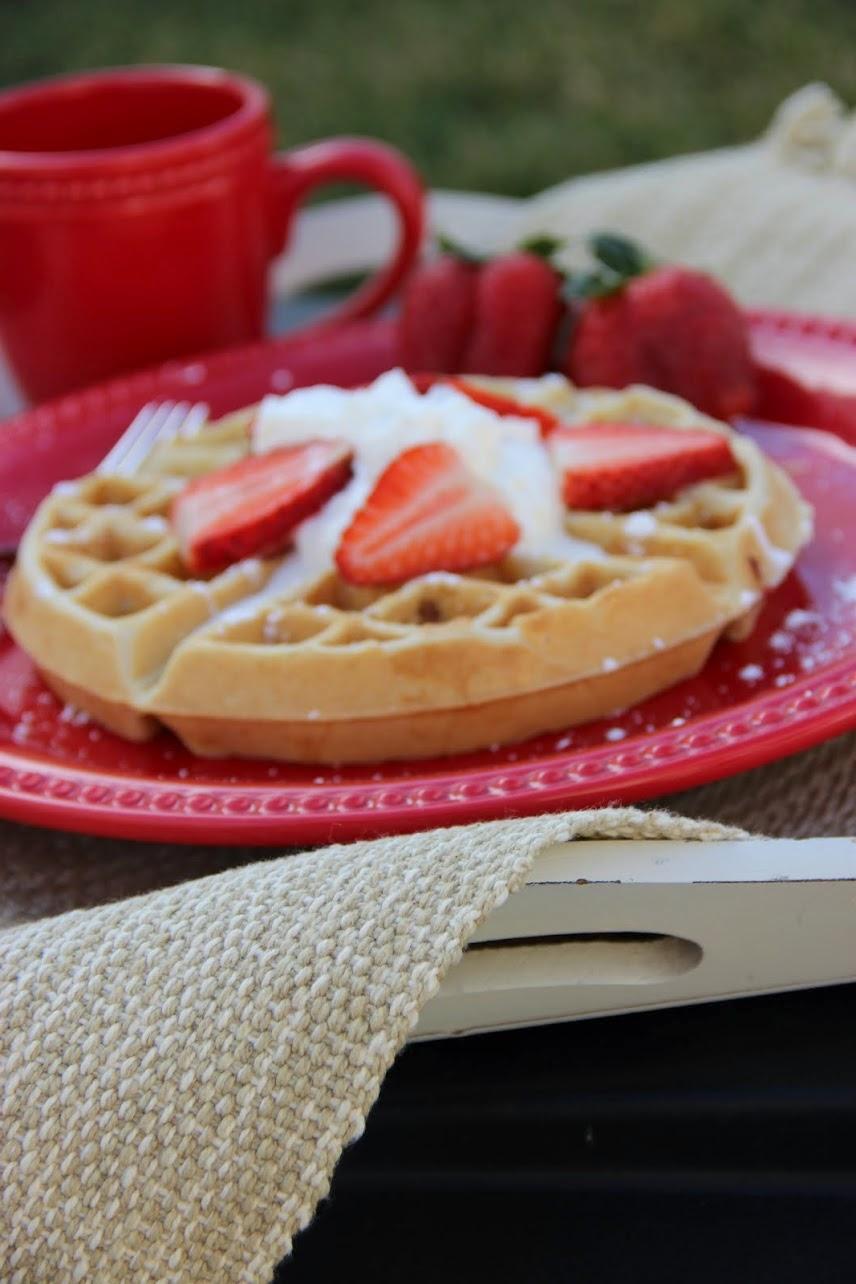 Recipe:  Breakfast, Recipe:  Bread, Strawberry Waffles, Whole Grains, Deals to Meals,