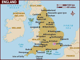 Map of England Cities