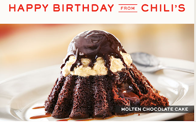 chilis birthday freebie coupon chocolate molten cake