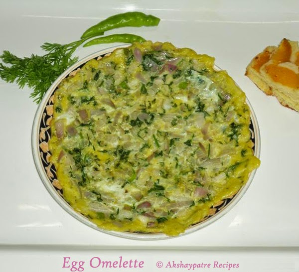 omelette in a serving plate