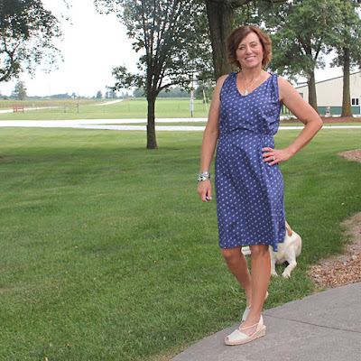 Girls in the Garden - Mississippi Avenue Dress in Style Maker's Rayon Challis