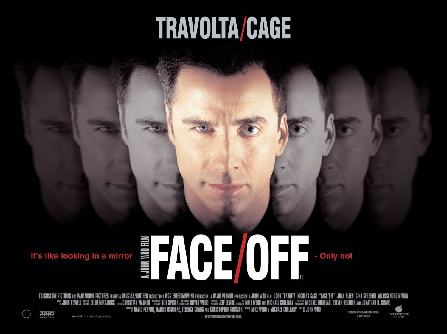 Face off is another film from the large collection of quality science fiction released in 1997 including titles such as men in black the fifth element