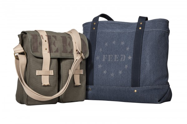 FEED USA + Target messenger bag