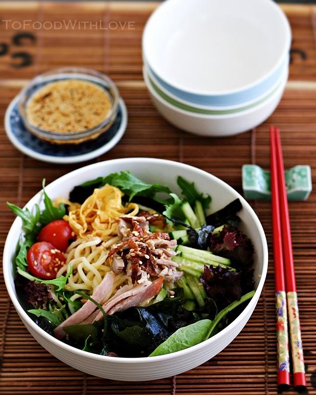 To Food with Love: Hiyashi Chuka (Cold Ramen Noodle Salad)