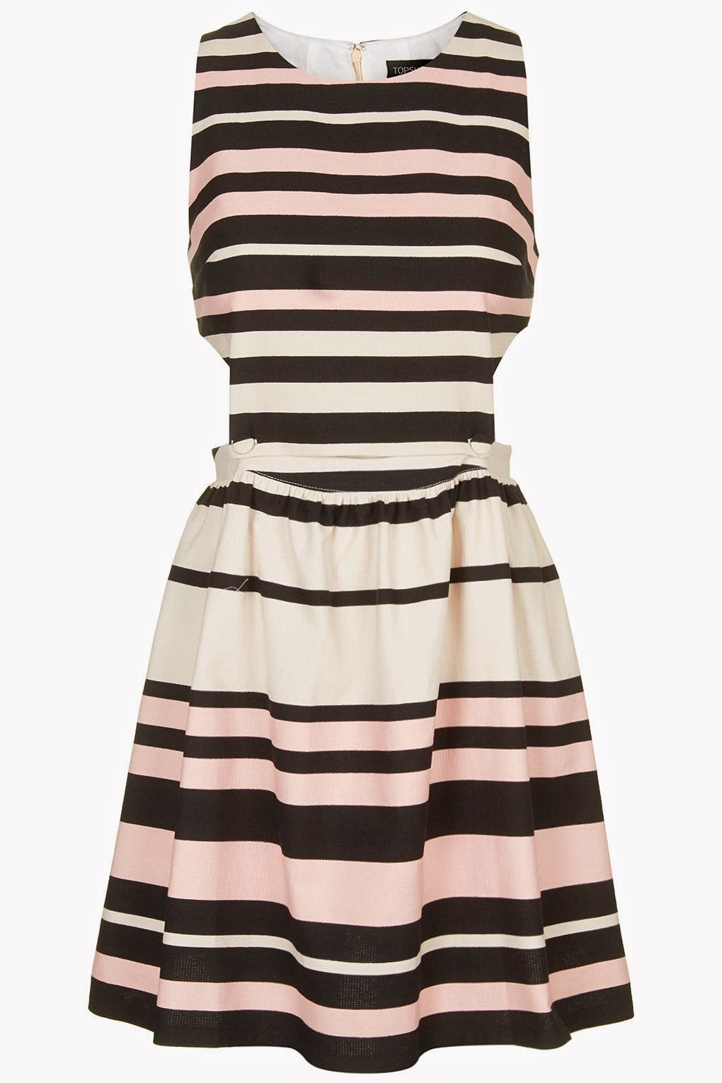 topshop black white stripe dress,
