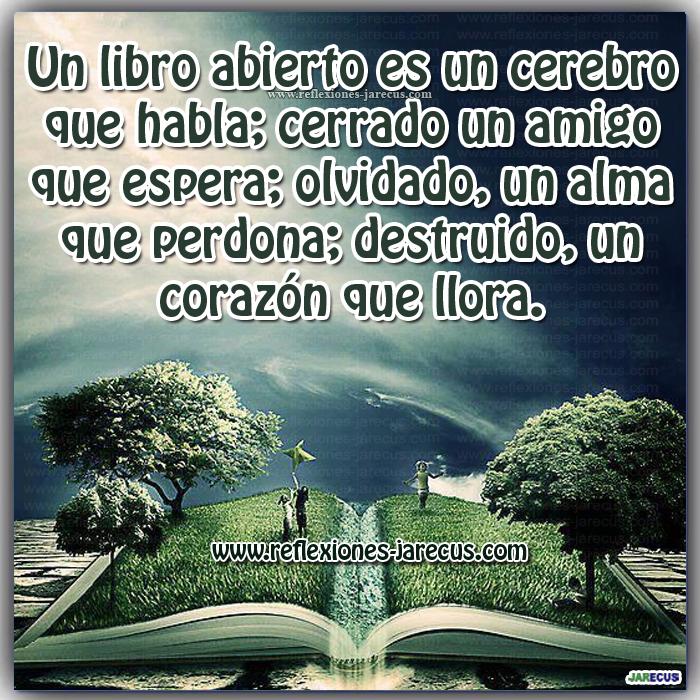 Frases de vida, libro, cerebro, amigo, corazón