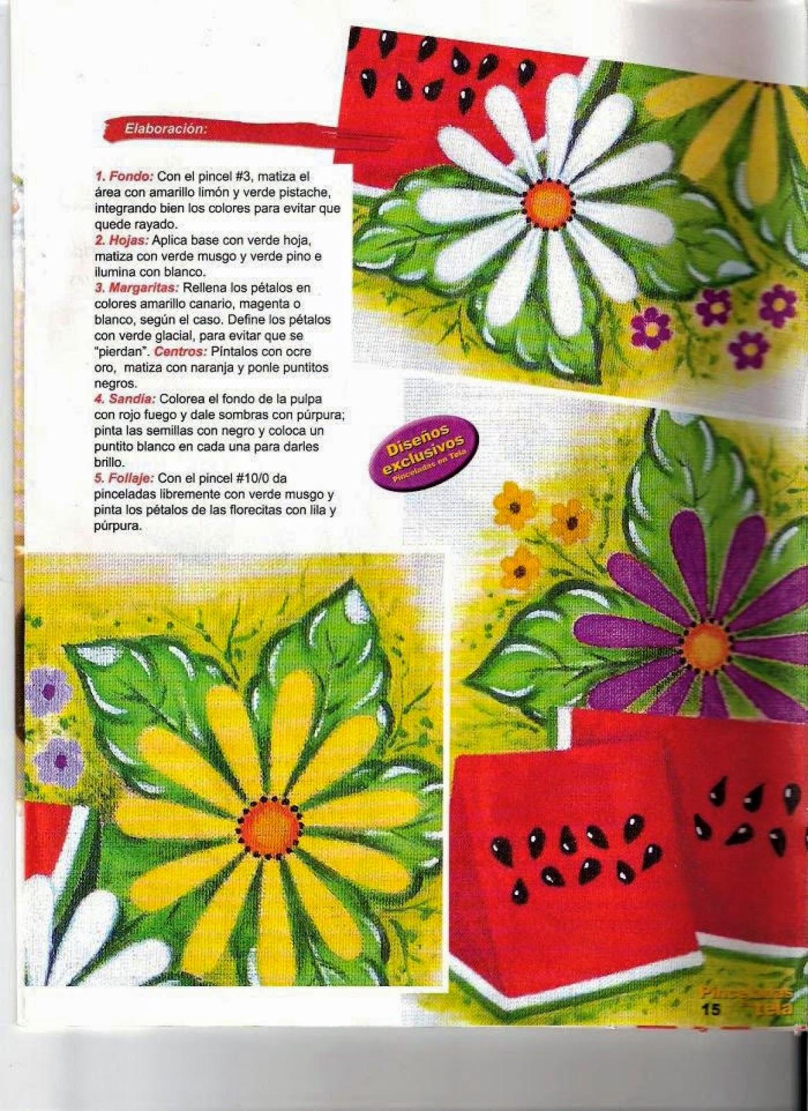 Como pintar sobre tela revista gratis revistas de manualidades gratis - Como pintar sobre tela ...