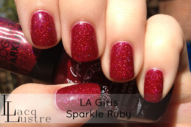 LA Girls Sparkle Ruby swatch