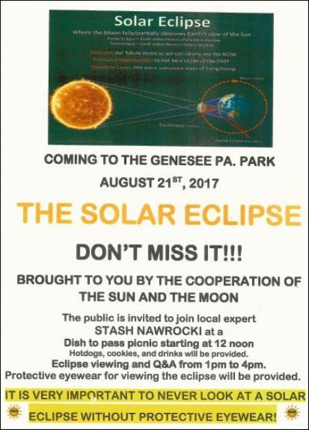 8-21 Solar Eclipse, Genesee Library