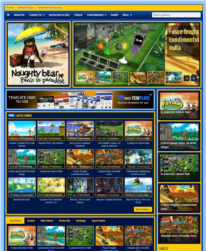 Template Johny Jogos - Theme Game cho Blogspot