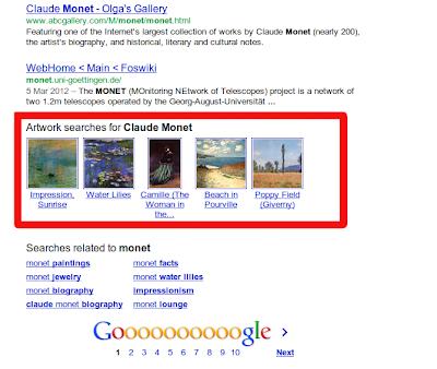 Ejemplo de búsquedas semánticas en Google
