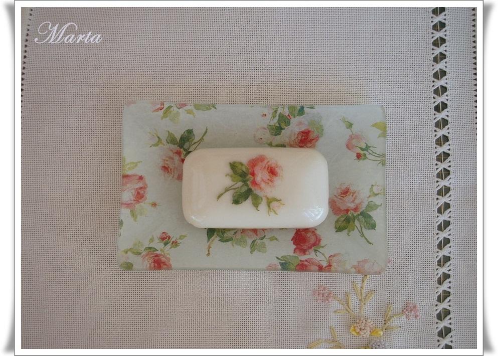 Las manualidades de marta encargos y regalos for Conjunto jabonera bano