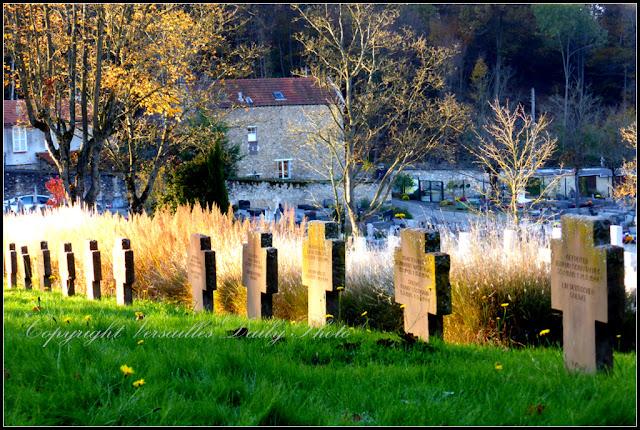 Tombes soldats allemands cimetière des Gonards Versailles