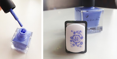 Born Pretty Stamping Polish ya qin an 18 ml  blue #18