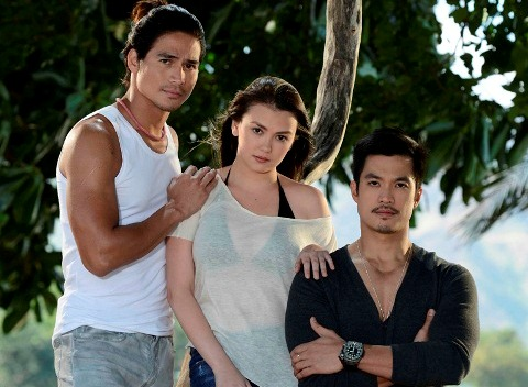 Piolo Pascual, Angelica Panganiban and Diether Ocampo in Apoy Sa Dagat