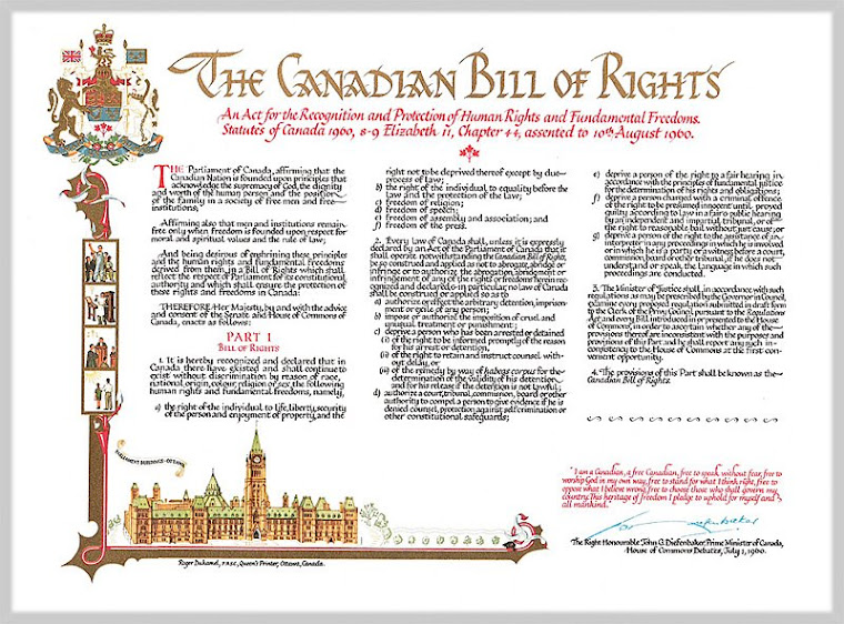 the canadian bill of rights [your's]