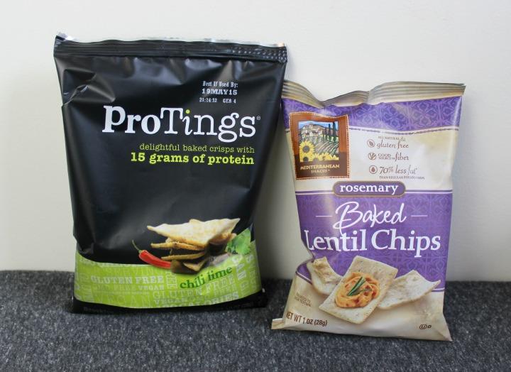 ProTings Baked Crisps - Chili Lime Flavor Mediterranean Snacks Rosemary Baked Lentil Chips