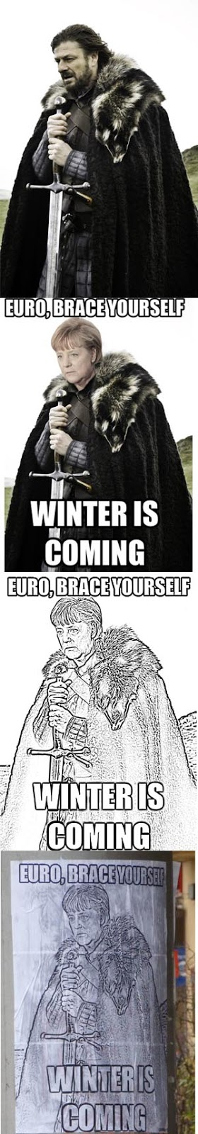 games of thrones, big posters, ned stark,angela merkel, stickers, winter