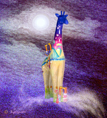Nextra-terrestrial giraffe travelling through space - Ingrid Sylvestre