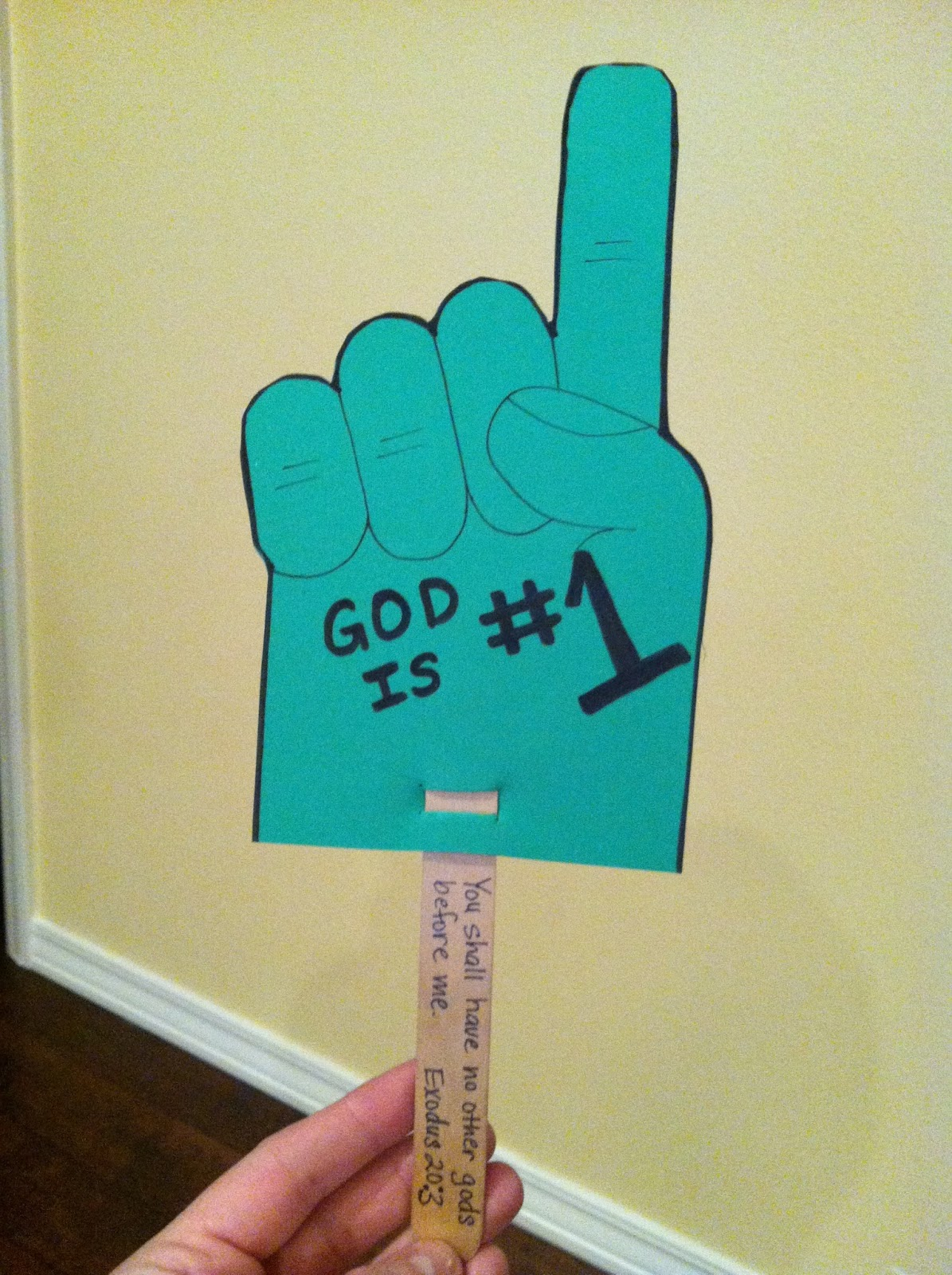 Sunday school crafts for preschool - Sunday School Craft God Is 1 Foam Hand