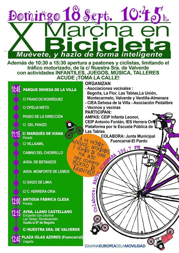 18 septiembre X Marcha en Bicicleta