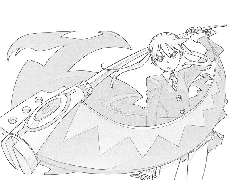 printable-soul-eater-maka-albarn-weapon_coloring-pages
