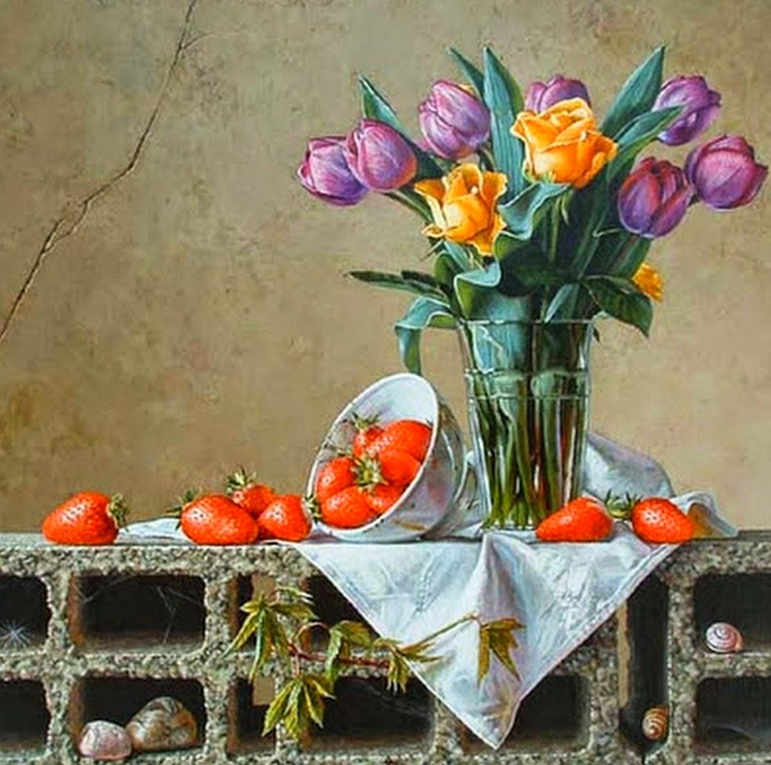 Cuadros modernos pinturas y dibujos cuadros de frutas y - Pinturas bodegones modernos ...