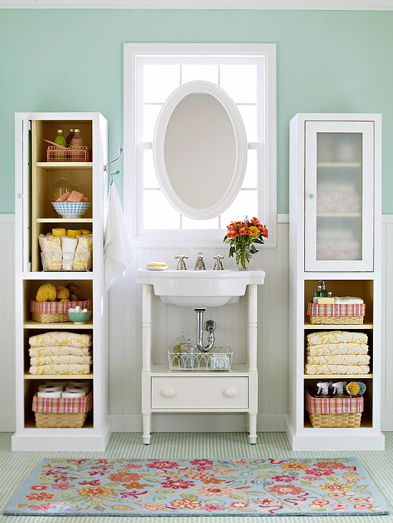 Id es de rangement de salle de bains d cor de maison d coration chambre - Idees rangement salle de bain ...