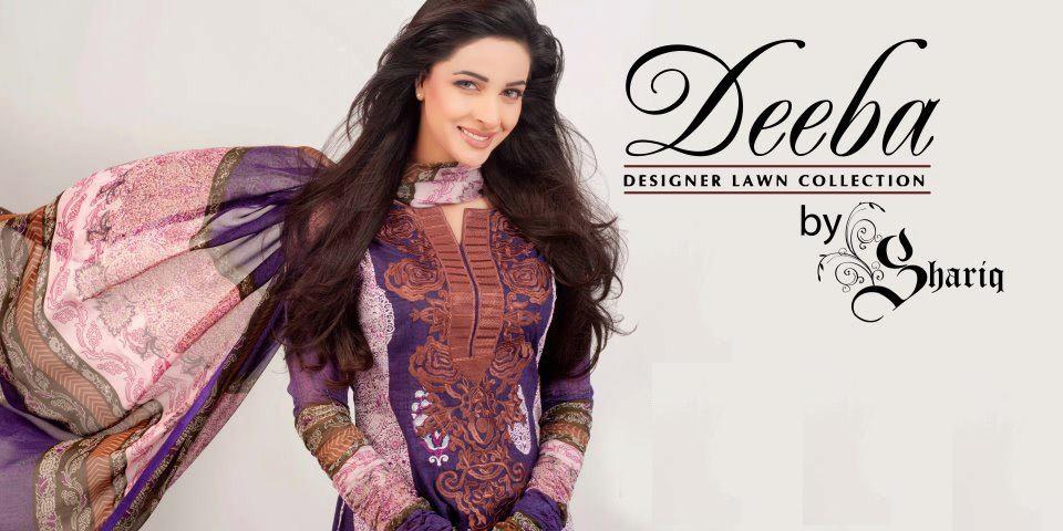 deebahummeralawncollection2012byshariq - Deeba Designer Lawn 2012