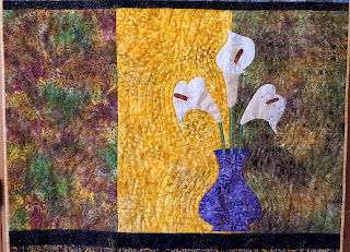 Calla Lily quilt for my mom at Christmas