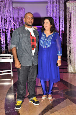 Faraha at Sunidhi Chauhan's wedding reception