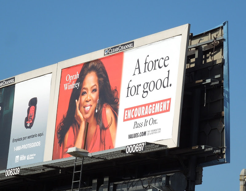 Oprah Encouragement Values billboard