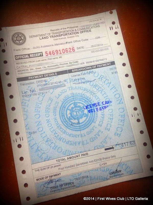 Lto car registration renewal requirements 2016