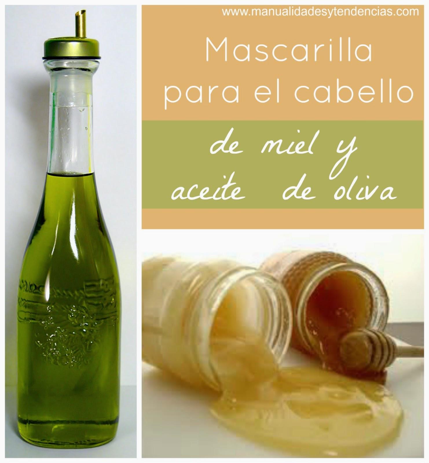 mascarilla para el pelo casera de miel y aceite de oliva