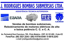 J. RODRIGUES BOMBAS SUBMERSAS LTDA