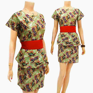DB3217 Mode Baju Dress Batik Modern Terbaru 2013