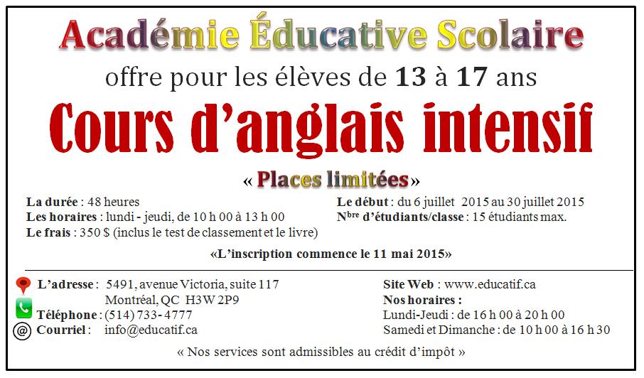 Cours D Anglais Pour Les Adolescents De 13 A 17 Ans Cours