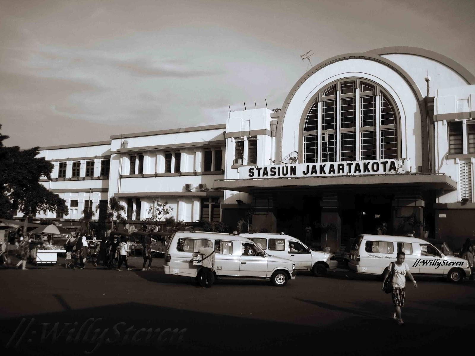 Stasiun Jakarta Kota Tempo Dulu Stasiun Jakarta Kota