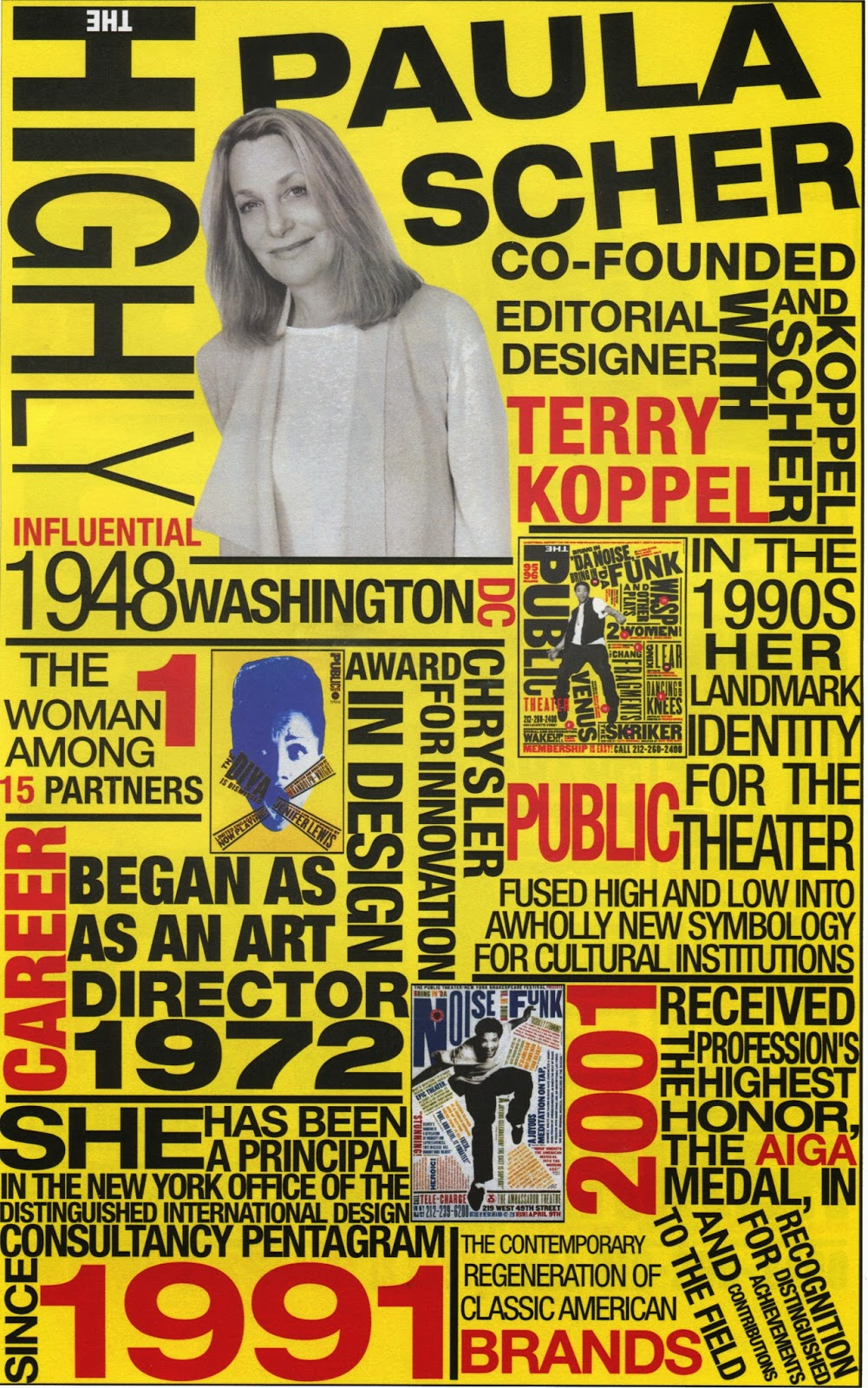 postmodern graphic designer paula scher essay Paula scher 1994 (postmodernism) language is a deadly weapon graphic for mtv's free your mind campaign find this pin and more on design history by jacksand921.
