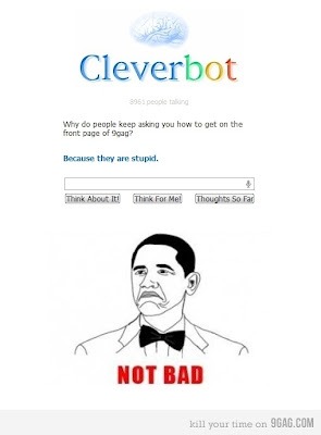 Perhaps Cleverbot IS clever after all!