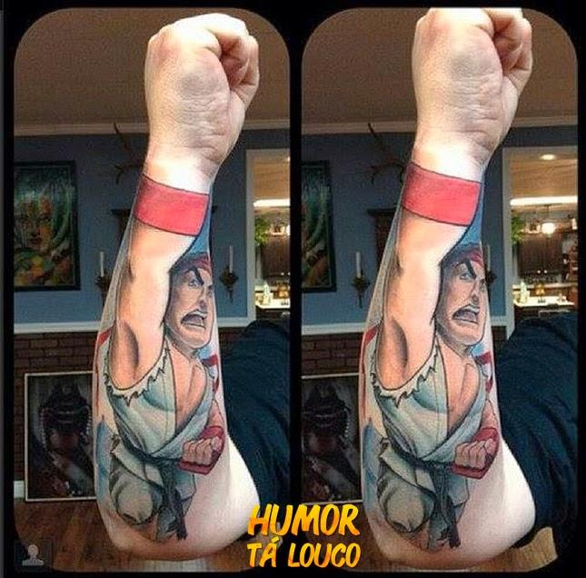 Tatuagem Ryu Street Fighter - Mão