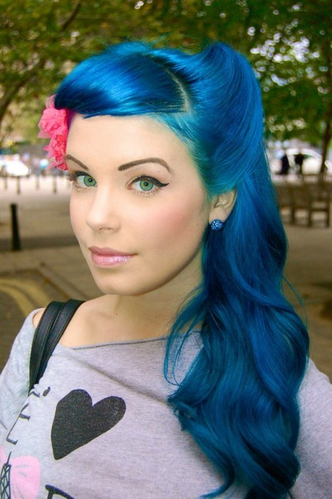 fashion colored punk hairstyles for women