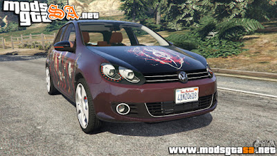 V - Volkswagen Golf Mk6 V2.0 (Slipknot) para GTA V PC