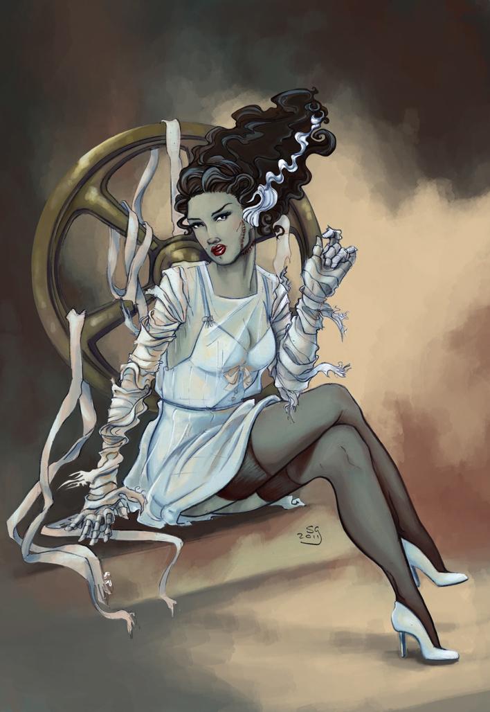 Bride Of Frankenstein Comic Art