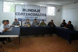 Con la coordinación de todas las fuerzas, Blindaje Coatzacoalcos se mantiene