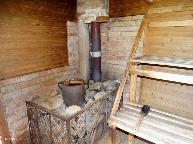 Sauna we wsi Zelwa po sąsiedzku.